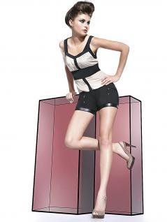 Fashion Shorts kurze Hose Taschen Short Cargo elastisch Stretch Emma