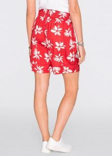 Rainbow Damen Bermuda Shorts kurze Hose Blumen-Muster rot 912931 - Vorschau 3