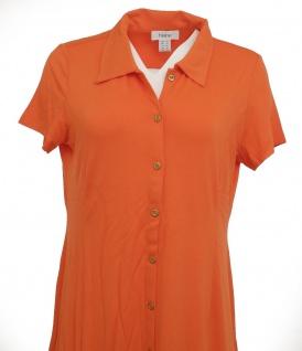 Heine Polokleid Kleid Polo Hemd Tunika kurzarm knielang orange 005860 - Vorschau 3
