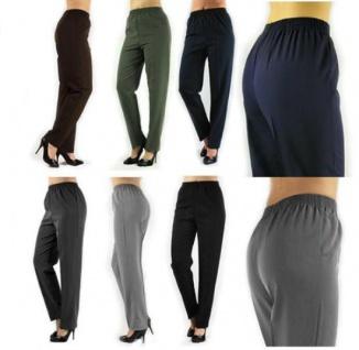 Damen Hose gerade Schlupfhose Schlupfform Dehnbund Bügelfalte N-Größe
