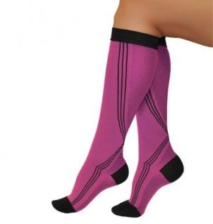 Elastische Sport Activ Kompressions Strümpfe Socken Kniestrümpfe 0401 - Vorschau 3