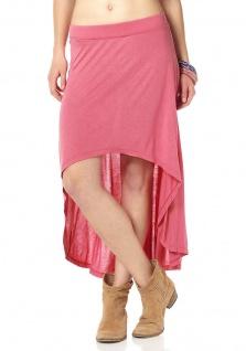 AJC Rock Vokuhila Asymmetrisch Maxirock Chiffon Skirt Viskose rosa 653497