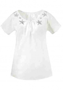 Tamaris Blusenshirt Shirt Tunika Bluse Top T-Shirt Hemd Baumwolle 410874