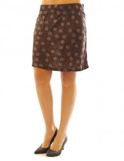 Chillytime Damen Minirock Rock Mini Blumen Muster Skirt braun Gr. 40 531452