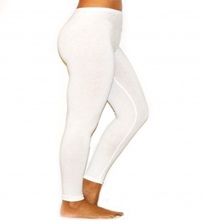 Damen Herren Leggings Leggins lang blickdicht Baumwolle Hose Wäsche Übergröße - Vorschau 4