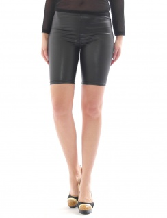 Shorts Mini 1/2 Hose Kurz sexy Glanz-Matt in Kunstleder Lack Optik