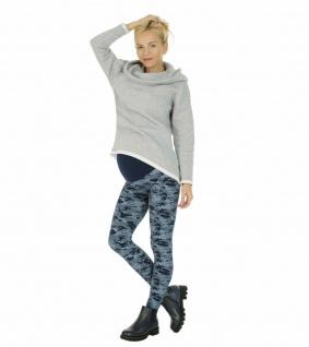 Umstand Hose Leggings lang Bauch gekämmte Baumwolle Camouflage-Blau-Muster
