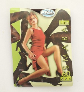 Marke Lida Gemusterte Strumpfhosen Samba 60den Schwarz und Braun