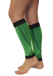 Elastische Sport Kompressions Stulpen Sleeves Strümpfe Beine Laufen 0408-01 - Vorschau 4
