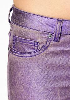 Laura Scott Damen Röhrenhose Hose Jeans Glanz Röhre Stretch lila 686180 - Vorschau 3