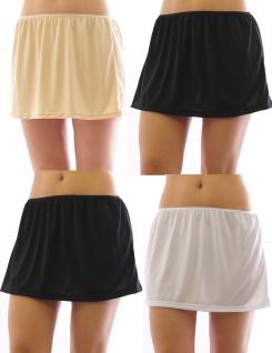 Mini Unterrock Gummibund Falten Rock Skirt Minirock Unterwäsche kurz