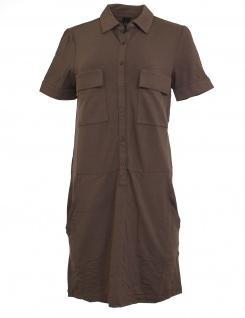 B.C. Jerseykleid Kleid kurzarm Taschen Knopfverschluss taupe Gr. 38 029204