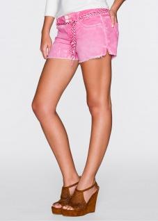 Rainbow Shorts Hot Pants kurze Hose Bermuda Fransen Bindegürtel pink 34 938716 - Vorschau 2