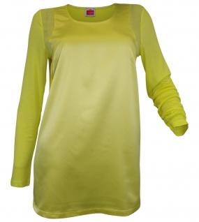 Travel Couture Heine Patch Blusenshirt Shirt Bluse Tunika langarm lemon 095187