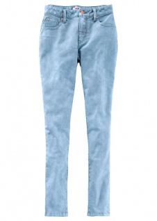 John Baner Stretch-Jeans Skinny lang Hose Denim Hellblau gebleicht 906624