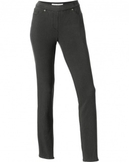 Ashley Brooke Damen Jeggings Leggings lang Hose Jeans Stretch dunkelgrün 032374