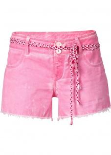 Rainbow Shorts Hot Pants kurze Hose Bermuda Fransen Bindegürtel pink 34 938716 - Vorschau 1
