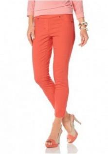Laura Scott Damen Hose 7/8 Jegging Jeans Leggings Gummibund orange 890049