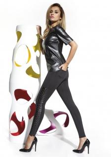Leggings Leggins Hose lang weich warm fleece stretch trend Fashion 200den Penny