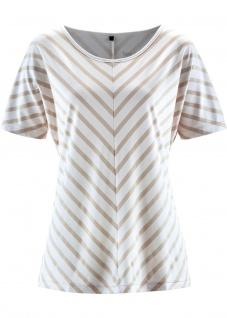 BPC Damen T-Shirt Streifen kurzarm Shirt Tunika Bluse Top wollweiss 928608