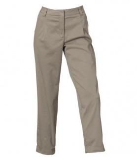 Mandarin Damen Bundfaltenhose Hose Bundfalten Chino Stretch grau Gr. 38 012147