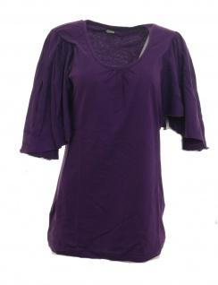 Chillytime Damen Capeshirt Cape Shirt weite Ärmel Tunika lila Gr. 40/42 569072