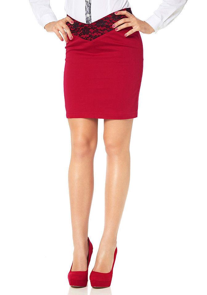 wholesale dealer 34452 90cd8 Damen Minirock Spitze Rock Mini Spitzenrock Skirt creme ...