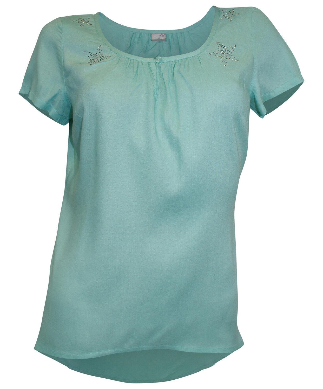 buy popular 4f5bb f536a Cheer Damen Bluse Tunika Nieten Sterne Shirt kurzarm mint 752313