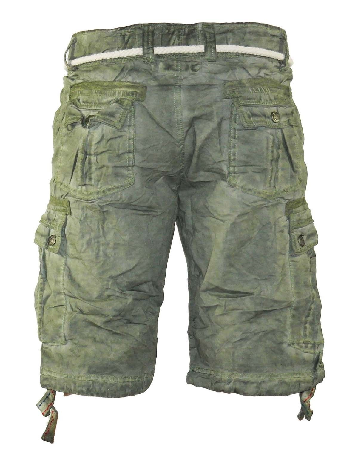 herren jeans kurze hose lange cargo shorts bermuda caprihose mit g rtel 8835 kaufen bei yesetshop. Black Bedroom Furniture Sets. Home Design Ideas