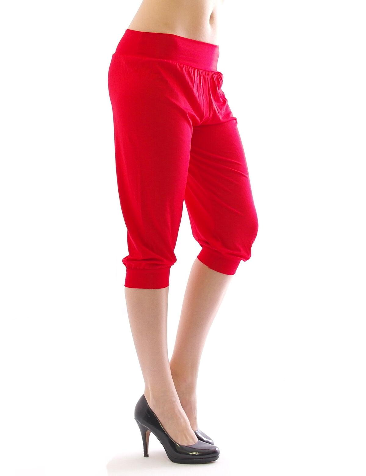 Harem Harems Aladin Pump Hose Capri 3//4 hoher Bund Sommer Leggings Leggins Baggy