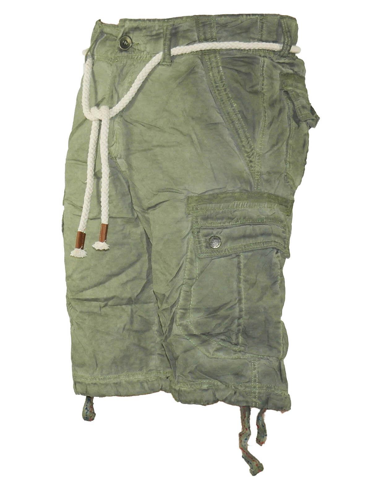 14e225b132ca70 Herren Jeans kurze Hose lange Cargo Shorts Bermuda Caprihose mit Gürtel  8835 1 ...