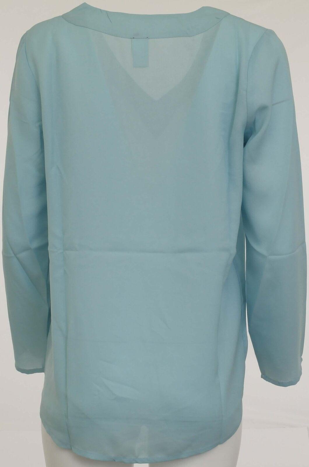super popular a7825 0fee6 B.C. Damen Schlupfbluse Bluse Shirt langarm Tunika blau Gr. 38 130841