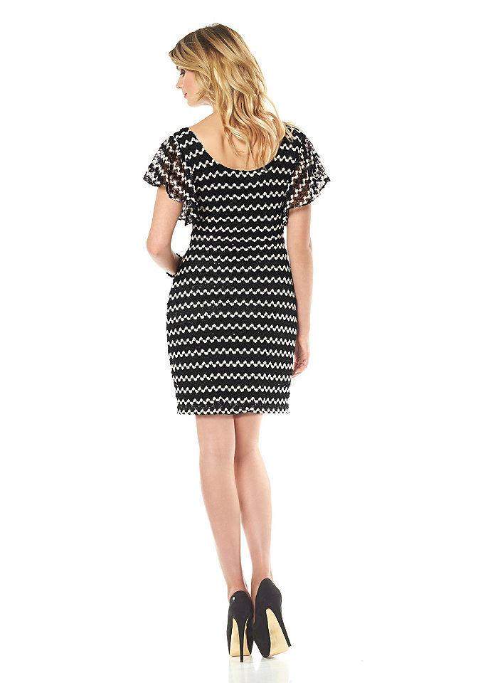 da94bf3cd1d3dd ... Siena Studio Kleid Zickzack-Muster Pailletten Cocktailkleid schwarz  weiß 896926 4 ...