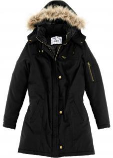 BPC Damen warme Winter Jacke Mantel Parka Winterjacke Schwarz 949630