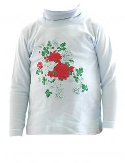 Posten 100 Stück Kinder Mädchen Shirt Langarm Pullover Rosen BFL-HN-02