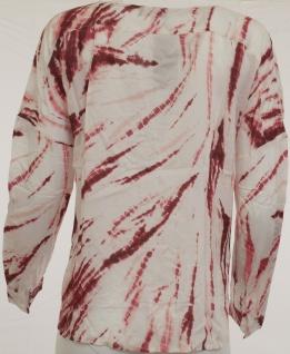 Laura Scott Damen Druckbluse Bluse Batik-Muster Langarm Hemd Shirt 282876