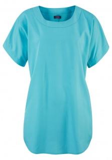 Buffalo Damen Tunika Bluse Shirt Top kurzarm Polyester türkis 476254