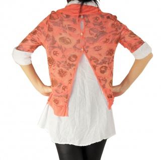 Hemd Shirt Tunika Poncho Bluse Tank TOP 3 Teile SET T-Shirt Halstuch Pulli - Vorschau 3