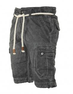 Herren Jeans kurze Hose lange Cargo Shorts Bermuda Caprihose mit Gürtel 8835 - Vorschau 4