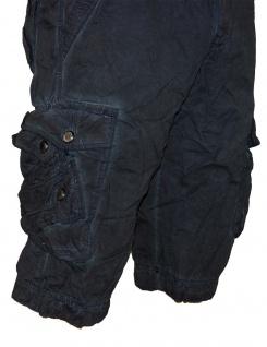 Herren kurze Hose Jeans lange Shorts Bermuda Cargo Caprihose mit Gürtel XH-22817 - Vorschau 3