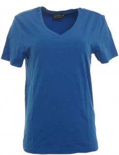 Rainbow Herren T-Shirt Slim Fit V-Ausschnitt Shirt Top azurblau Gr. 44/46 956910