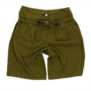 Sheego Damen Bermuda Shorts kurze Hose Bindeband olivgrün 853333