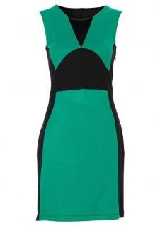 Bodyflirt Minikleid Shirtkleid Kleid Mini Etuikleid grün schwarz Gr. 38 977739