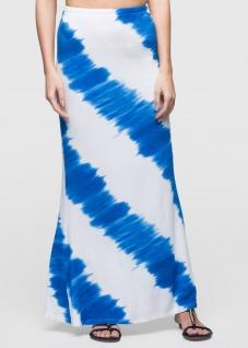 Bodyflirt Damen Batik Shirtrock lang Rock Skirt ecrú azurblau Gr. 32/34 904744 - Vorschau 1