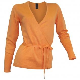 B.C. Damen Wickelpullover Pullover Wickeloptik Bindeband Feinstrick Pulli