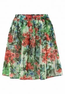 BPC Damen Leinenrock Rock Leinen Minirock Mini Skirt Taschen weiß 956920