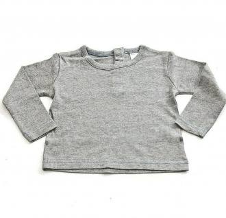 AJC Damen Sweatshirt Pullover Pulli Shirt langarm Streifen Print grau 364998