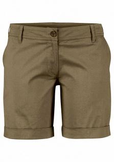 Buffalo Damen Strand-Bermuda Shorts kurze Hose Stretch khaki Gr. 34 602271