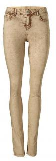 B.C. Damen Skinnyhose Hose Jeans Röhre Skinny Stretch Curry Kurzgröße 176305