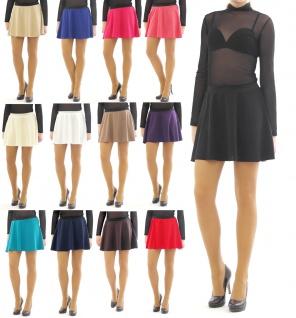 Swing Rock Mini hohe Taille Falten-Rock Gummibund Skirt schwingend Minirock